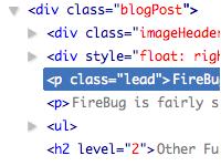 Скриншот Firebug