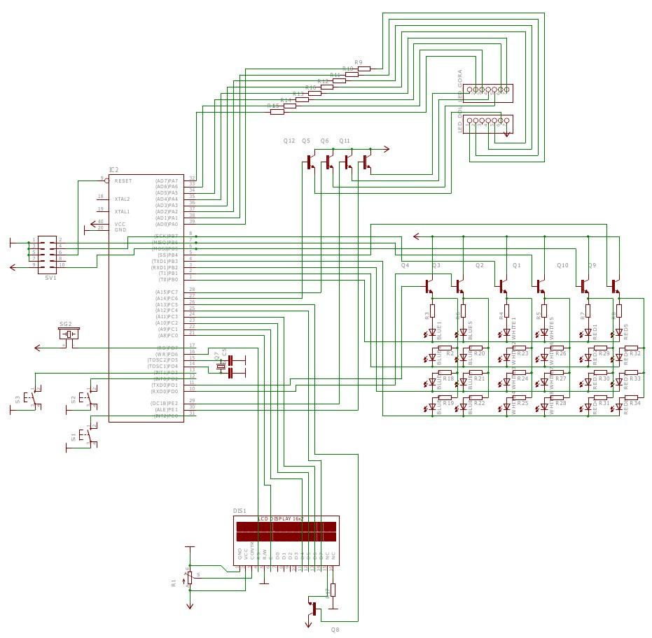 Схема принципиальная самодельных электронных часов