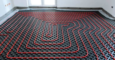 Изоляционные работы на полу. Плита, для тёплого пола с бобышками и плёнкой